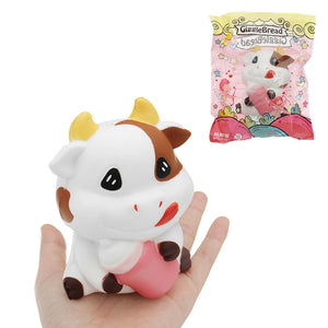 GiggleBread Cows Squishy 7.5*6.5*11CM Slow Rising Soft Animal Collection Gift With Packaging