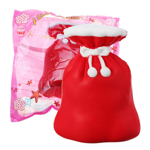 Squishy Christmas Gift Bag 12CM Purse Jumbo Slow Rising Soft Toy Collection With Packaging