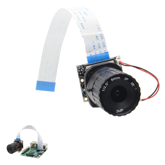 6mm Focal Length Night Vision 5MP NoIR Camera Board With IR-CUT For Raspberry Pi