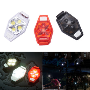 XANES TL04 4 LED IPX4 3 Modes Outdoor Night Running Cycling Warning Light