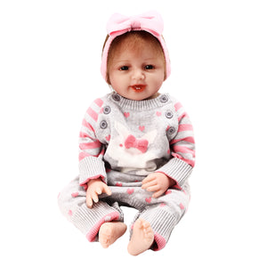 New Newborn Reborn Baby Girl 22 Lifelike Doll Realistic Toy Christmas Gift""