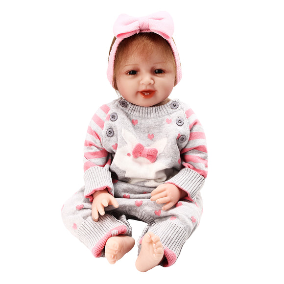 New Newborn Reborn Baby Girl 22 Lifelike Doll Realistic Toy Christmas Gift