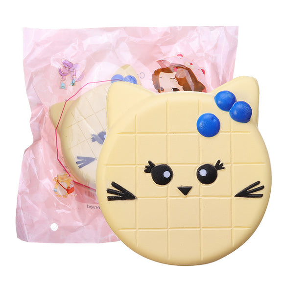 Bread Squishy Cat Face 10CM Jumbo Slow Rising Soft Toy Gift Collection With Packaging