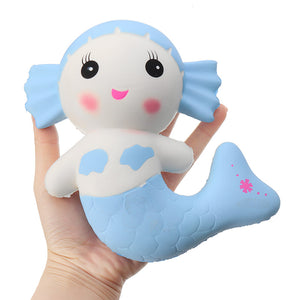 Cartoon Mermaid Squishy Toy Scented Bread Cake Super 17*15*6.5cm Soft Slow Rising Doll Kid Gift