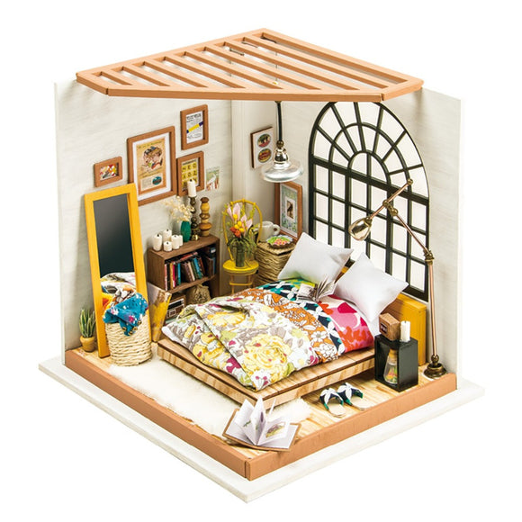 Robotime DG107 DIY Doll House Miniature With Furniture Wooden Dollhouse Toy Decor Craft Gift