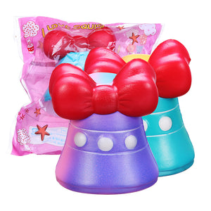 Bow-Knot Bell Squishy 12CM Jumbo Slow Rising Soft Toy Gift Collection With Packaging