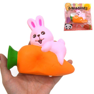 IKURRANI Rabbit Squishy 13.5*11*5.5CM Slow Rising Soft Animal Collection Gift Original Packaging