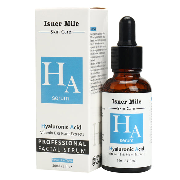 Isner Mile Hyaluronic Acid Serum Plant Essence Vitamin E Anti Aging Hydration Moisturizing Wrinkle