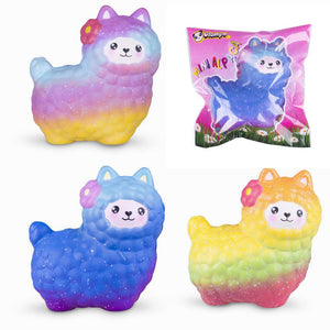 Vlampo Sheep Squishy Cute Alpaca Galaxy Slow Rising Scented Fun Animal Toys Gift