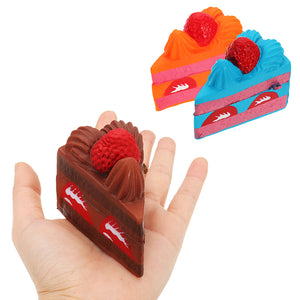 Strawberry Cake Squishy 16*8*6CM Slow Rising Fun Gift Anti Stress Phone Strap Toy