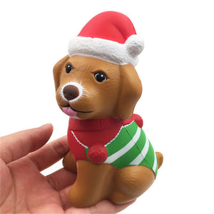 Squishyfun Christmas Puppy Squishy 13*8.5*6.5CM Licensed Slow Rising With Packaging Collection Gift