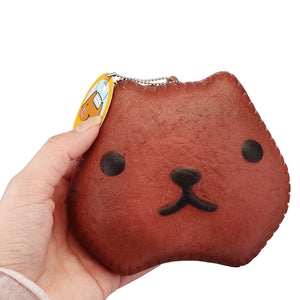 Kapibarasa Capybara Squishy 12cm Slow Rising Toy With Ball Chain Tag Bread Collection Gift Decor Toy