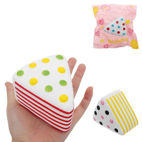 Triangle Cake Squishy 9*6*7.6CM Slow Rising With Packaging Collection Gift Soft Toy
