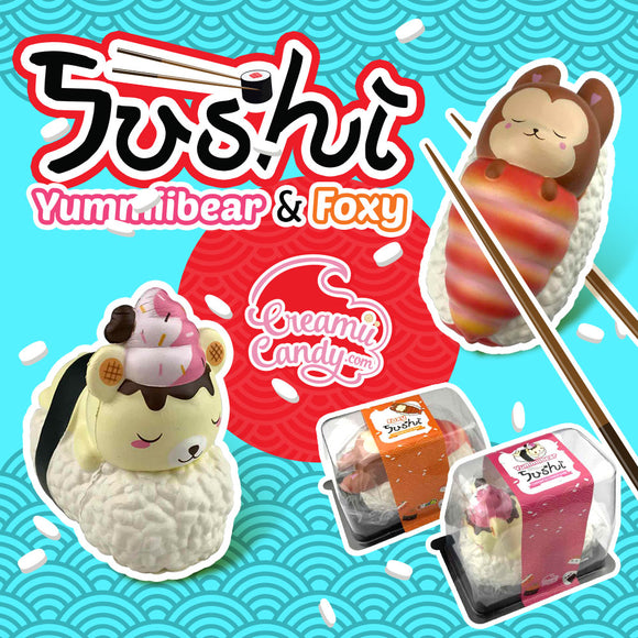 Yummiibear Squishy Rice Jumbo Sushi Squishy Toy Slow Rising With Packaging Box