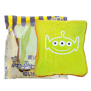 Alien Big Expression Bread Squishy Toy 12CM Slow Rising With Packaging