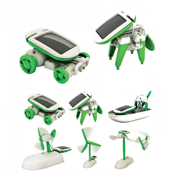 New 6 In 1 Educational Solar Toys Kit Robot Chameleon