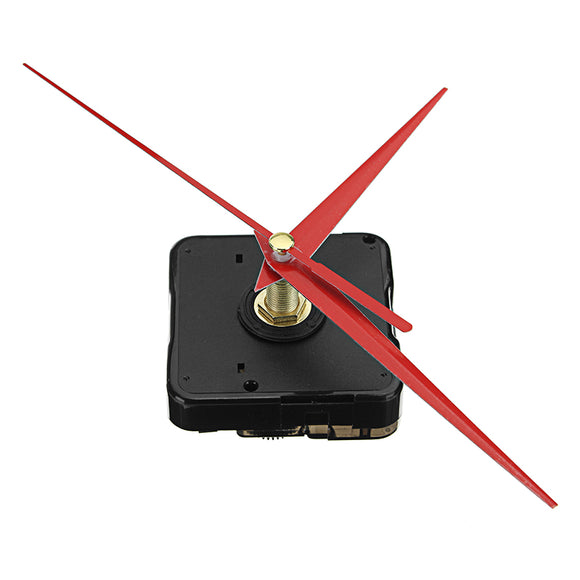 5pcs 20mm Shaft Length DIY Red Triangle Hands Silent Quartz Wall Clock Movement Mechanism For