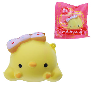 Meistoyland Squishy Yellow Chick Slow Rising Straps Squeeze Toy Gift Healing Toy