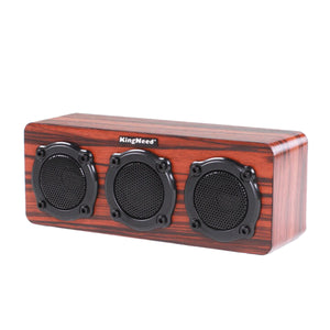 Kingneed S301 2.5W Wireless Wooden Bluetooth Speaker Mini Portable Stereo Speaker