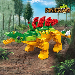 BanBao Stegosaurus Jurassic Dinosaur World Park Animal Blocks Educational Building Bricks Model Toys