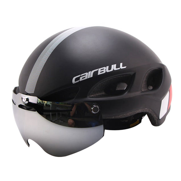 CAIRBULL Removable Lens Magnetic Goggles Cycling Helmet Bike Helme Road Mountain Helmet With Glasses