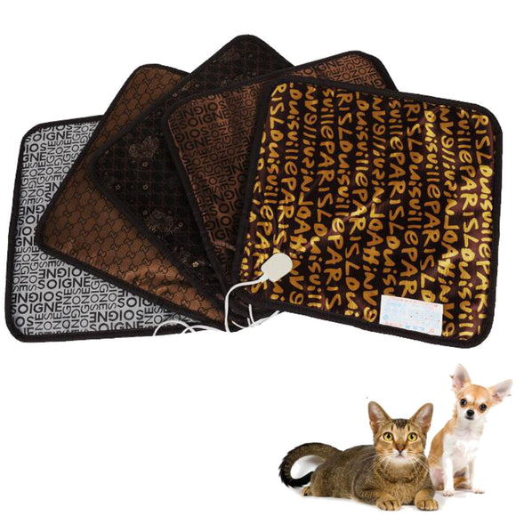 Waterproof Pet Electric Pad Blanket Heat Heated Heating Mat Dog Cat Bunny Bed