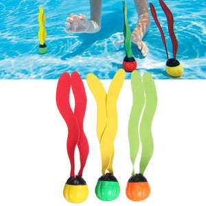 3Pcs Underwater Multi Color Swim Pool Diving Ball Fun Toys Play For 6+ Kids
