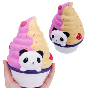 Panda Ice Cream Squishy 16*12CM Slow Rising Soft Collection Gift Decor Toy