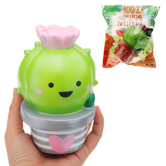 Momocuppy Cactus Flower Pot Squishy 18cm Slow Rising With Packaging Collection Gift Soft Toy