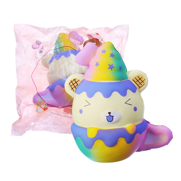 Cooland 12cm Squishy Toy Galaxy Bear Slow Rising With Packing Bag