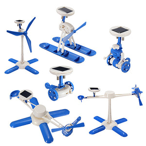6 IN 1 Solar Toy DIY Robots Plane Educational Kid Gift Creative