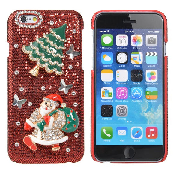 Christmas Gift Luxury Hard Crystal Handmade Bling Case For iPhone 6
