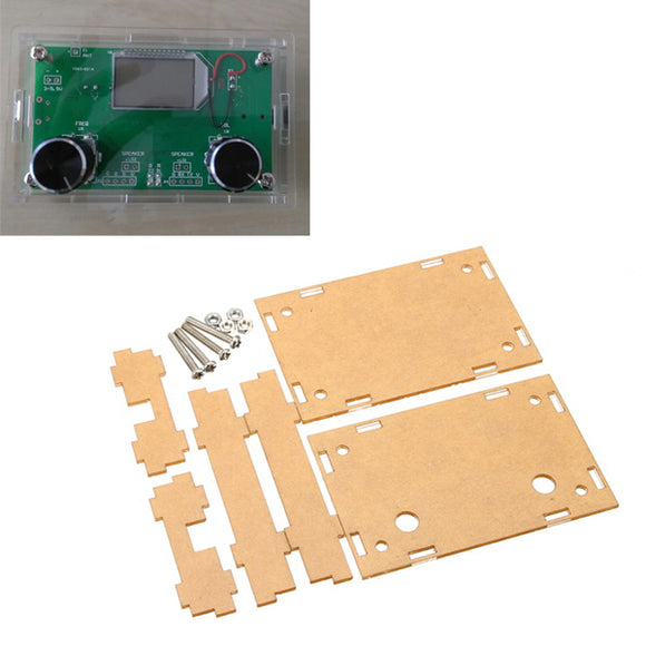 5Pcs Transparent Acrylic Sheet Housing Case For DSP & PLL Digital Stereo FM Radio Receiver Module