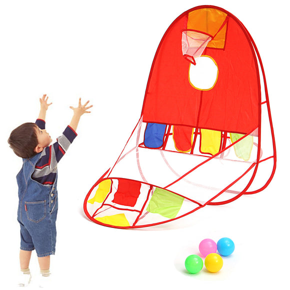 Foldable Ball Scoring Tent Children Play Tent Play House Basketball Basket Tent