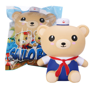 Appleblossom Sailor Bear Squishy 17CM Navy Boy Blue Suit Scented Gift Collection With Packaging