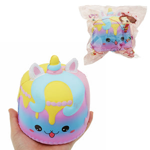 Crown Cake Squishy 11.4*12.6cm Kawaii Cute Soft Solw Rising Toy Cartoon Gift Collection With Packing
