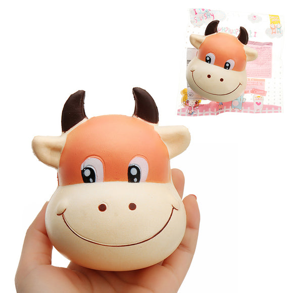 Bull Head Squishy 10*8cm Slow Rising With Packaging Collection Gift Soft Toy