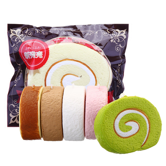Cake Squishy Swiss Roll 7cm Slow Rising Jumbo Funny Gift Collection With Packaging
