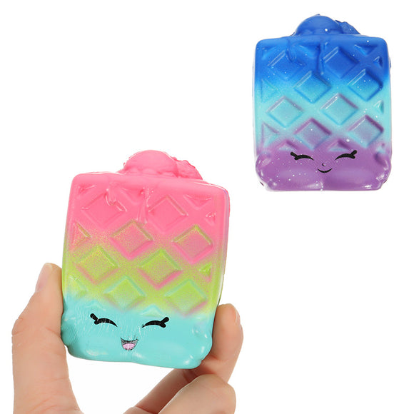 2Pcs Waffles Squishy 6.5*3.5cm Slow Rising Soft Collection Gift Decor Toy