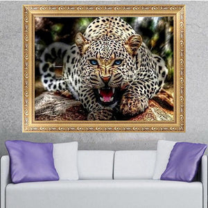 30x40CM 5D Diamond Painting Leopard Embroidery Cross Stitch Home Decor