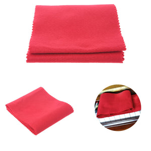 Zebra Red Beige Piano Keyboard Dust Cover with Cotton Cloth Dust Cover