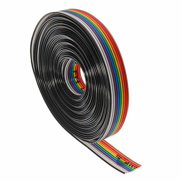 5 Meters/Lot 10 Way 10 Pin Flat Color Rainbow Ribbon Rainbow Cable Wire 1.27mm Pitch