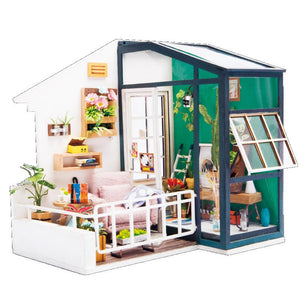 Robotime DG-M05 DIY Doll House Miniature With Furniture Wooden Dollhouse Toy Decor Craft Gift