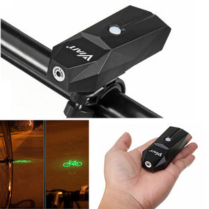 VIAN Loud Speaker 3 Colors Laser Bicycle Light Safety Warning IP64 Waterproof 42g USB Charging