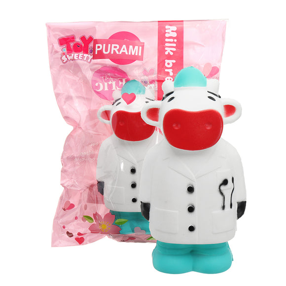 Calf Doctor Cow Squishy 14.7*7.6CM Slow Rising Soft Toy Gift Collection With Packaging