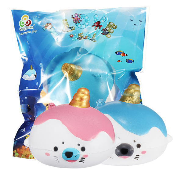 Sanqi Elan Squishy Kawaii Sea Lion Mini Slow Rising Animal With Original Package