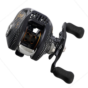 ZANLURE LA-1 LA-2 6.3:1 12+1BB 11LB Fiber Glass Baitcasting Fishing Reel 2.5KG Drag Left/Right Wheel