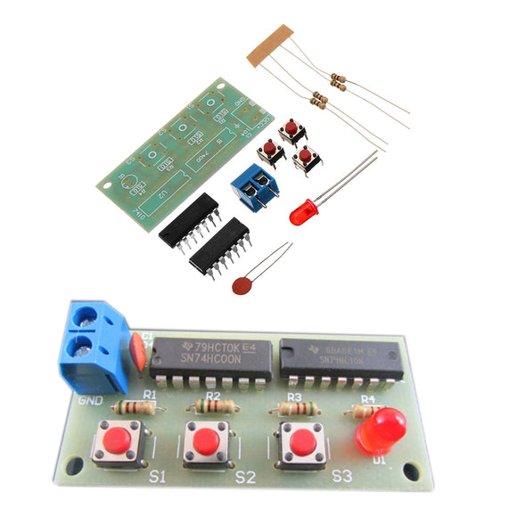5pcs DIY Three Person Voter Module Kit DIY Electronic Production Kit 74HC00+74HC10