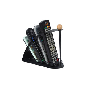 TV DVD VCR Organiser 4 Frame Remote Control Storage Mobile Phone Holder Stand Iron Black Organizer C