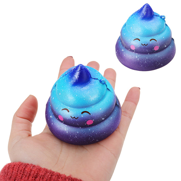 7cm Squishy Galaxy Poo Slow Rising Scented Cartoon Bun Stress Kawaii Toy Gift Collection
